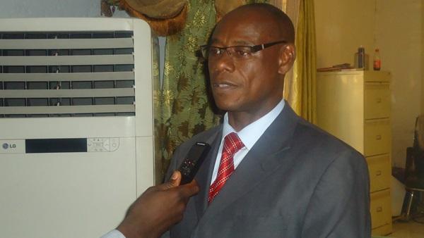 Adama ROUAMBA, coordonnateur  national PN-PTFM/LCP «La formation de ce matin va nous aider à diminuer notre consommation   en support papier et à tendre effectivement vers le support numérique »