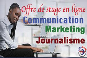 Offre de stage en ligne: UBICOM recrute des stagiaires assistants en communication digitale