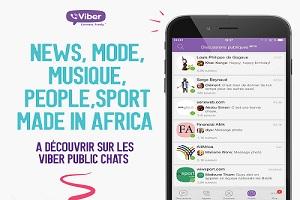 Viber diffuse des 'ondes' positives en Afrique  avec l'introduction des Public Chats
